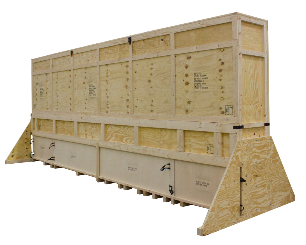 Wooden-case-for-aircraft-part