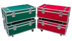 green-and-red-flight-case